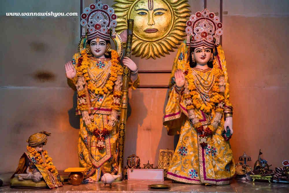 Sri Rama and mata Sita together